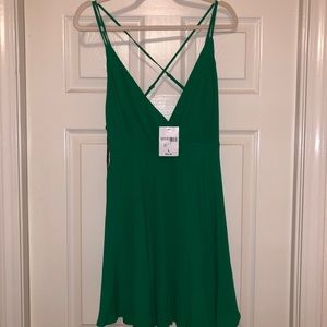 Green mini dress NWT